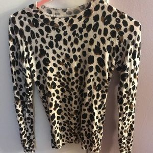 Long sleeve leopard blouse